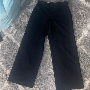 small black wide leg pants